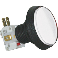 D54-0004-61 - White Medium Round IPB Lamp w/ .250 Microswitch #161
