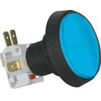 D54-0004-62 - Blue Medium Round IPB Lamp w/ .250 Microswitch #161