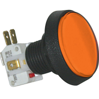 D54-0004-67 - Amber/orange Medium Round IPB lamp w/ .250 Microswitch #161