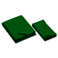 26-0493-398 - Championship Invitational, Bottle Green, 20 oz., Pre- Cut Cloth, 8 Ft. Table, Teflon, Un-backed