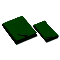 26-0493-328 - Championship Invitational, Dark Green, 20 oz., Pre- Cut Cloth, 8 Ft. Table, Teflon, Un-backed