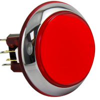 RBM-730S-E22 - IPB CHROME LUM LG RND RED CAP LEGEND & BEZ 12V LAMP W/NUT