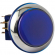 """Casino Chrome"" Small, Round Blue Illuminated Pushbutton with Chrome Bezel - RBM-730S-F66"