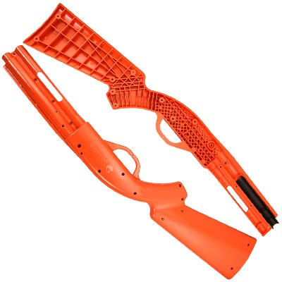 HOUSING LEFT HALF FOR SEGA PUMP ACTION SHOTGUN ORANGE - 96-0728-00L - Item Photo